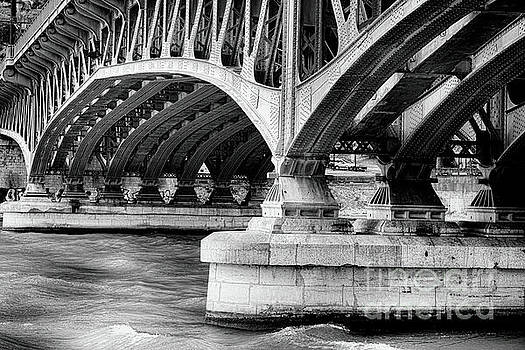 Old Bridge Structure Over The Saone River by George Oze