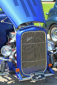 Old but Happy Hot Rod convertable by Bonnie Willis