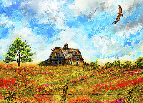 Old But Stately -Old Barn Artwork by Lourry Legarde