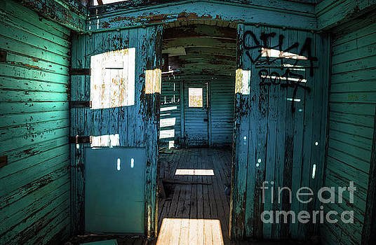 Old Caboose Rhyolite Ghost Town by Blake Webster