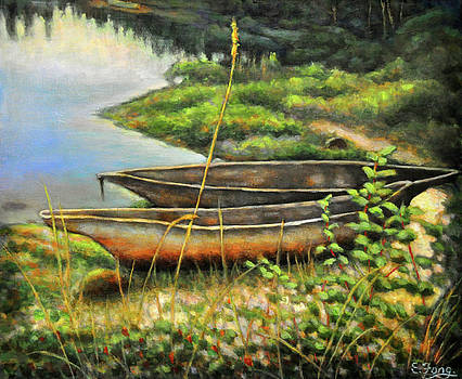 Old Canoes at Rest by Eileen  Fong