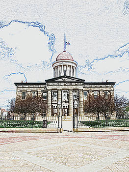 Old Capitol Sketch by Sue Houston
