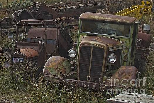 Old car and truck by Anthony Jones