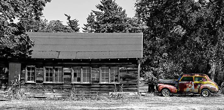 Old Car, Old Garage by Rick Lawler