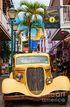 Old Car On Old Street by Diane Macdonald