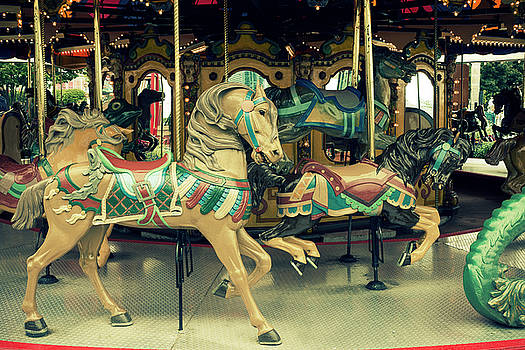Old carousel horse by Bernice Williams