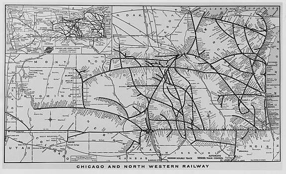 Chicago and North Western Historical Society - Old Chicago and North Western Map