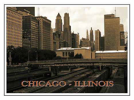 Peter Potter - Old Chicago Skyline Poster