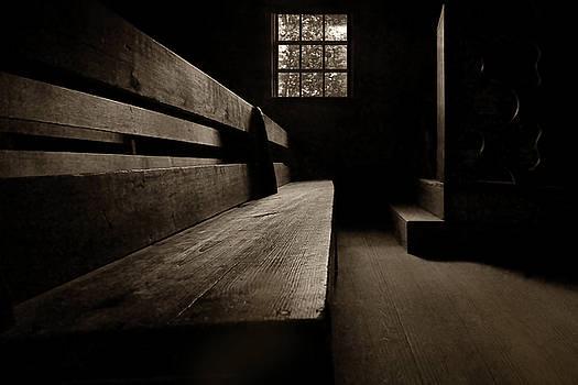 Old Church - Pew - Sepia by Nikolyn McDonald