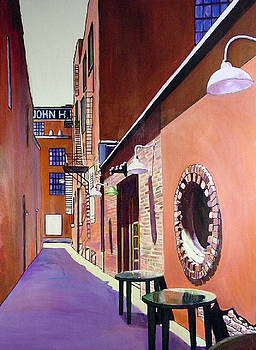 Old City Alleyway Knoxville by George Grace