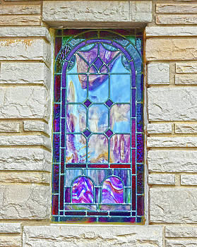 Old Country Church Stained Glass Window by Sandi OReilly