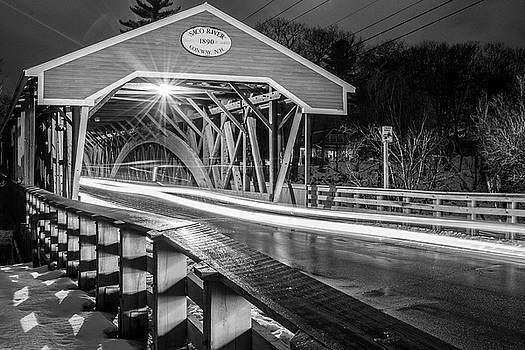 Old Covered Bridge  by Justin Mountain