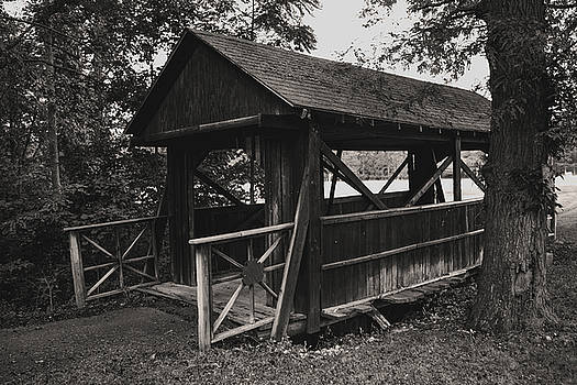Old Covered Footbridge by Jim Markiewicz