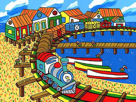 Old Dock Street - Cedar key by Mike Segal