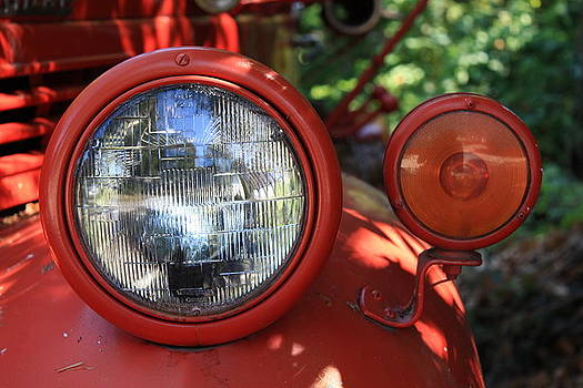Old Dodge Fire Truck Headlight in Colour by Larry Whiting