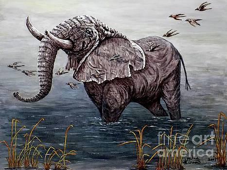 Old Elephant by Judy Kirouac
