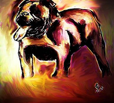 Old English Bull 2 by Crystal Webb