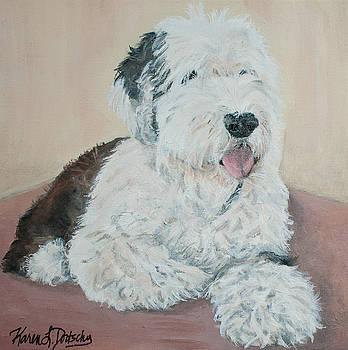 Matilda the Old English Sheepdog  by Karen Dortschy