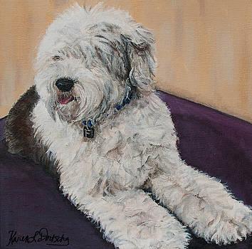 Farley the Old English Sheepdog  by Karen Dortschy