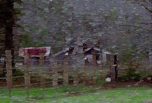 Old Farm House-impressionism by Debbie May