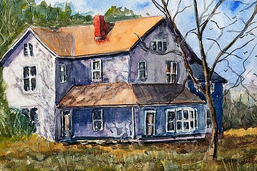 Old Farm House -Watercolor Landscape by Barry Jones