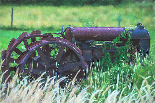 Old Farm Tractor by Black Brook Photography