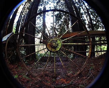 Clayton Bruster - Old Farm Wagon Wheel