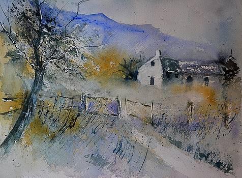 Old farm watercolor by Pol Ledent