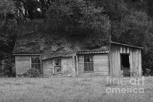 Old Farmhouse Black and White by Lynn Jackson