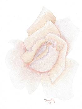 Old Fashioned Pastel Rose by Dusty Reed