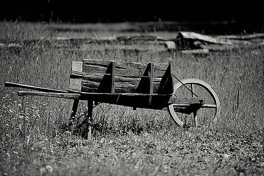 Old Fashioned Wheelbarrow by Walt Stoneburner