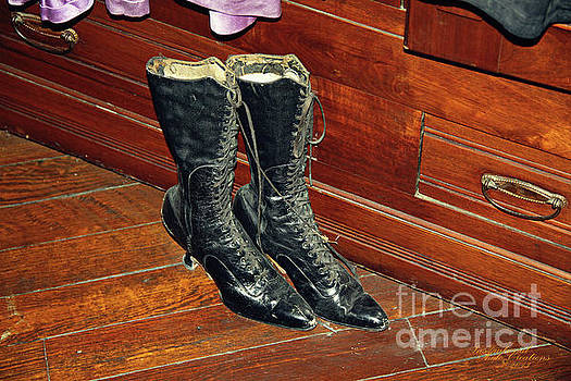 Old Fashioned Womans Boots by Inspirational Photo Creations Audrey Woods
