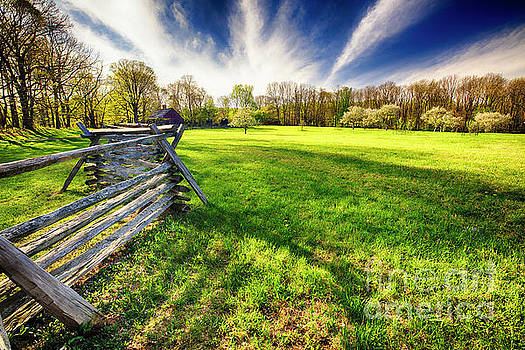 Old Fence Along a Farm by George Oze