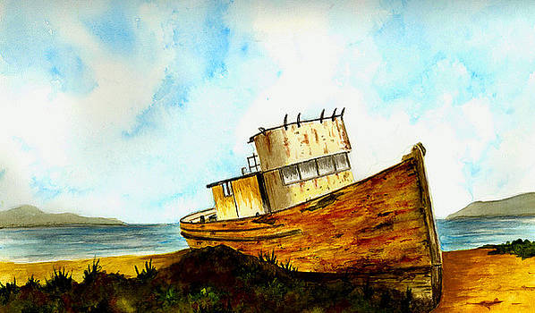 Old Fishing Boat by Michael Vigliotti
