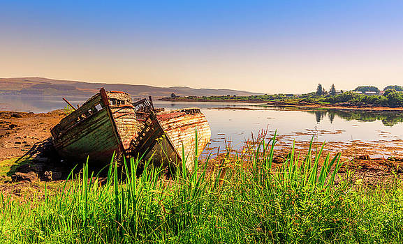 Old fishing boats by Roy McPeak