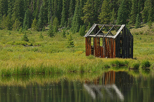 Old Fishing Cabin by Jerry Mann