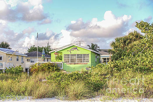 Old Florida Cottage on the Beach by Edward Fielding
