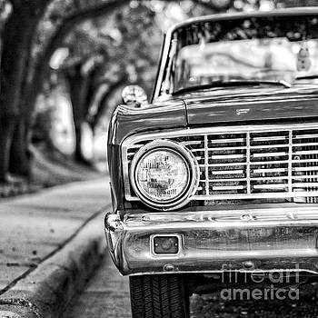 Edward Fielding - Old Ford Car Square Black and White