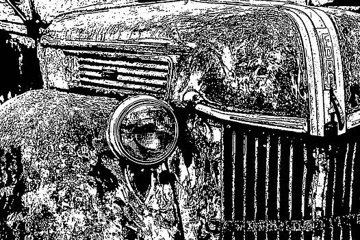 Old Ford, Grill 2 by Diana Marcoux