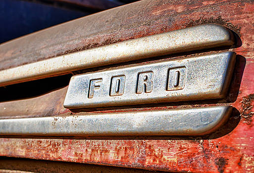 Old Ford Hood Ornament by Mike Hendren