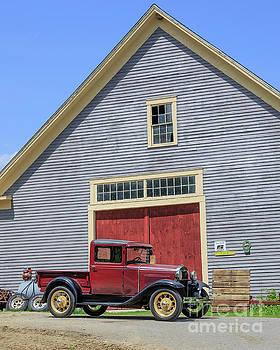 Edward Fielding - Old Ford Model T Pickup in front barn
