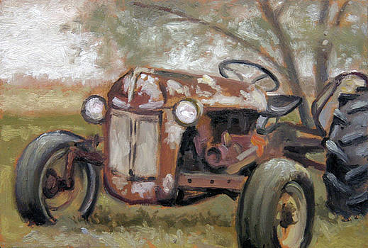 Old Ford Tractor by Larry Seiler