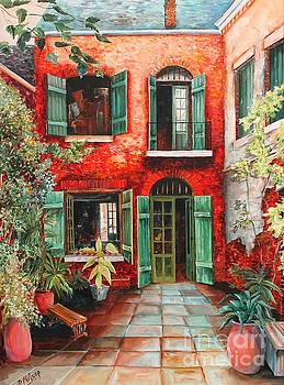 Old French Quarter Courtyard by Diane Millsap