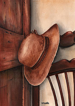Old Garden Hat by Angela Armano