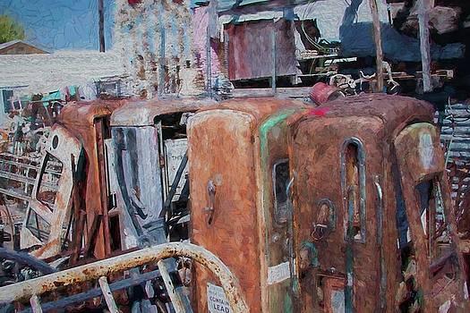 Old Gas Pumps  4961 by Fritz Ozuna