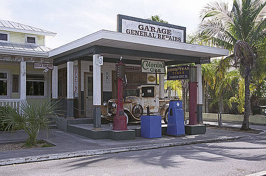 Old Gas Station in Everglades by Richard Nickson