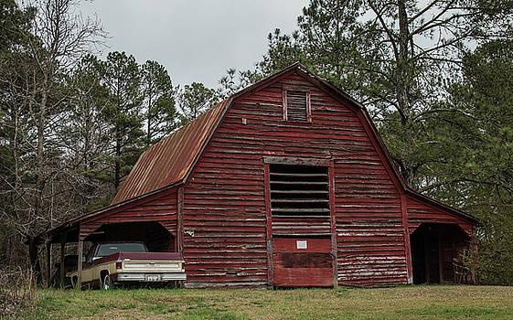 Old Georgia Red Barn-IMG_756417 by Rosemary Woods-Desert Rose Images