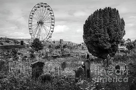 RicardMN Photography - Old Glenarm Cemetery And Big Wheel BW