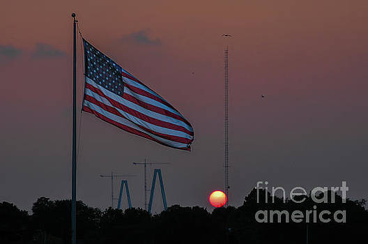 Dale Powell - Old Glory at Sunset