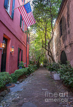 Dale Powell - Old Glory Flying over Philadelphia Alley